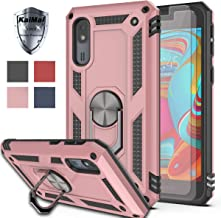 Galaxy A2 Core Case with HD Screen Protector (2Pack) KaiMai 360 Degree Rotating Ring & Bracket Dual Layers of Shockproof TPU and Solid PC Phone Case for Samsung Galaxy A2 Core/SM-A260F-Rose Gold