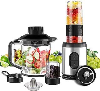 Mini Blender Multifonctionnel 5 en 1 Machine à Smoothie 800W Mixeur Blender 1.2L pour Smoothies Milk-Shake Jus de Fruits L...