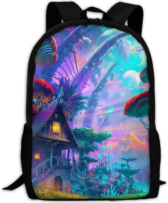 5a830752841e Backpack Laptop Hiking School Bags Magic Fairy World Shoulder Bag ...