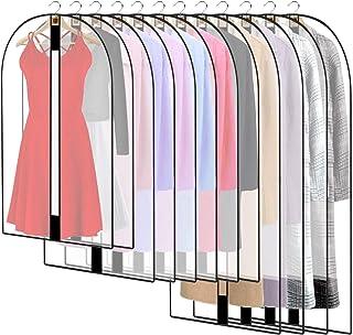 HOWAF 12PCS Housses de Vêtements AVCE Zip, Anti Poussière Etanche Mite Humidité, Anti-Poussière Housses de Protection Tran...