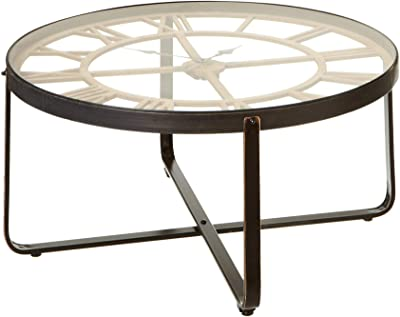 Amazing Amazon Com Diamond Sofa Reed Round Marble Top Accent Table Caraccident5 Cool Chair Designs And Ideas Caraccident5Info