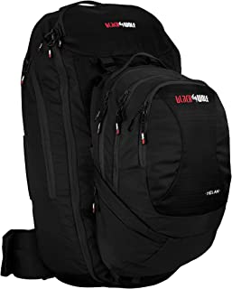 Phoenix Leisure Black Wolf Helan 65W Backpack, 65 L, Jet Black