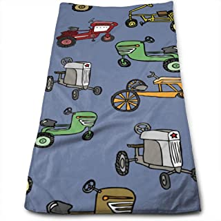 MAOXUXIN Vintage Pedal Tractors Bath Towel Hand Towel Microfiber Towel for Beach,Travel,Swim,Pool,Camping,Outdoors and Sports Towel 11.8x27.6inch