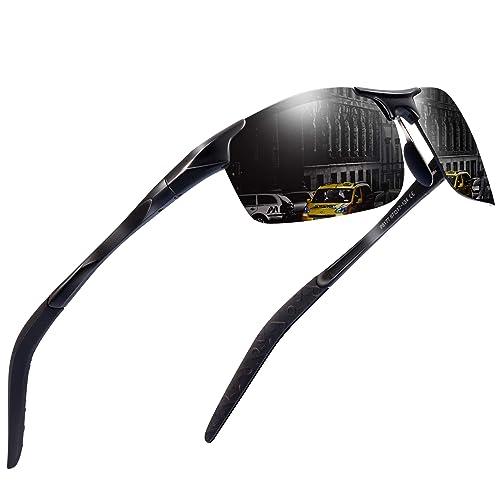 7a9d63ac2e7 Sports Polarized Sunglasses for Men - Feirdio Mens Sports Glasses Metal Frame  Driving sunglasses 2266