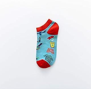 XHQGJ, 3 Pares de Calcetines Femeninos creativos para niños Calcetines de Barco de Planeta Calcetines de algodón de Personalidad Calcetines de Pareja de Estudiantes Calcetines de mar