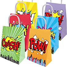 18 Superhero Goody Bag for Birthday Party Favor Awesome Gift Reward Candy Package School Event Superhero Themed Halloween Party Supply
