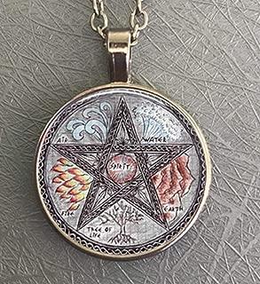 Vintage Polygone Amulette de Salomon Pendentif talisman Collier Pour Hommes Femmes
