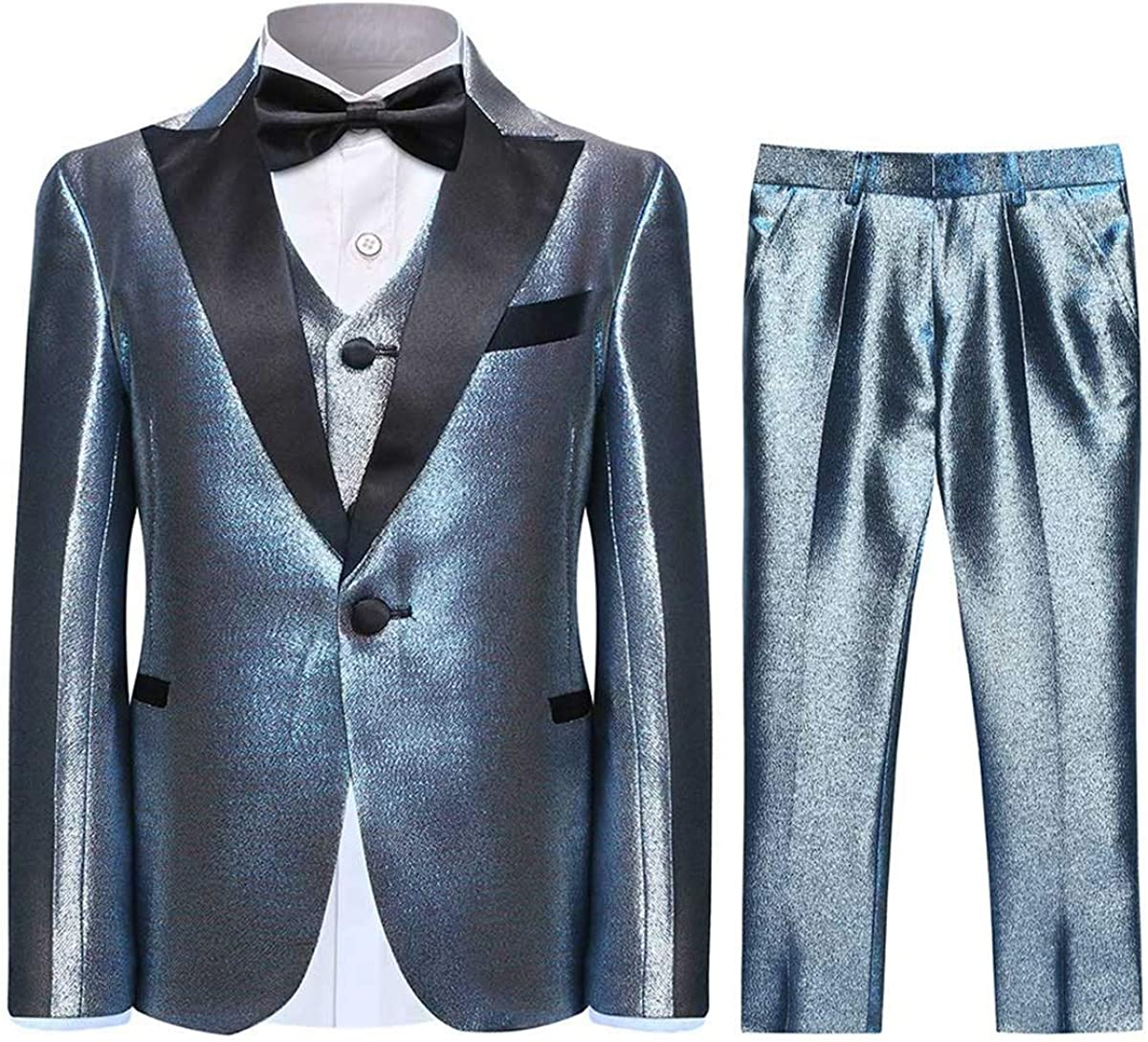 SWOTGdoby Boys Shiny Suits Slim Fit Mer Pieces Set trend Now free shipping rank 3 Fading Suit