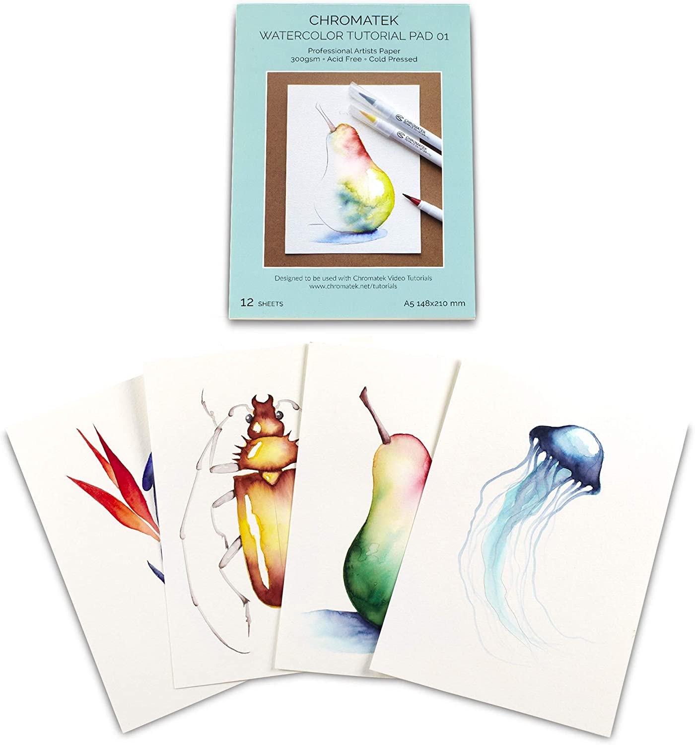 Watercolor Surprise price Paper and Video Tutorials Pressed Cold Tulsa Mall P 300gsm 12