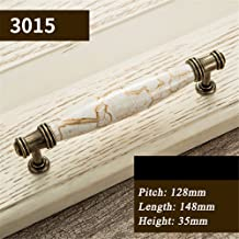 wangjian& Antique Furniture Handles Marble Vein Knobs and Handles Ceramic Handles for Kitchen Cupboards Cabinet Door knobs Drawer Pulls,S12
