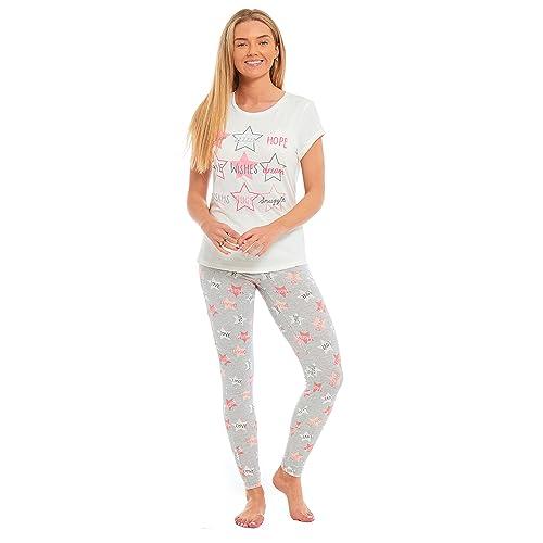 Ladies Penguin  Snoozing Til Friday  Pyjamas Jersey 100% Cotton Summer PJs  Marl Grey 86cb2b181