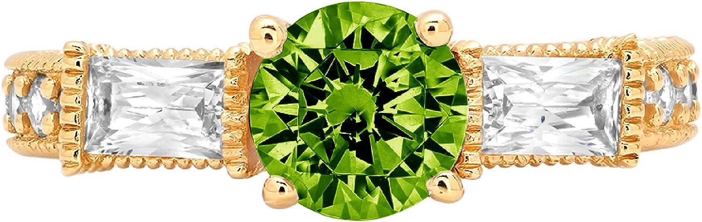 2.38 ct Round Baguette Cut Dallas Mall 3 Genuine 5 ☆ very popular stone Solitaire Na Designer