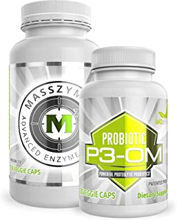 Sponsored Ad - BiOptimizers - P3-OM and MassZymes Bundle - Premium Digestive Enzymes and Probiotics for Women and Men - Do...