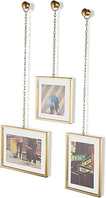 Umbra Steel Fotochain Photo Display (20.32 cm x 15.24 cm x 7.62 cm, Matte Brass)