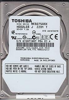 """Toshiba MK5075GSX Hard Drive 500GB 2.5"""" SATA 5.4K 5400 RPM."""