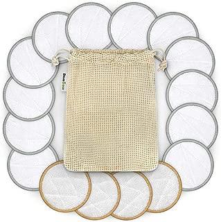 3//4 Pcs Lingette Demaquillante Lavable pour Nettoyage D/émaquillage Visage HELLOO HOME Tampons D/émaquillants Fibre De Bambou Disques Coton Demaquillant Lavable