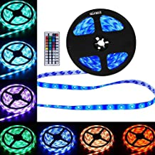 Light Strip 5 Meters Decoration Lighting LED Lights, Remote Control Waterproof 5050 RGB Lamp for Kitchen, Home Theater, Dining Table, Laptop, PC, Monitor, TV Background (Multi-Color)