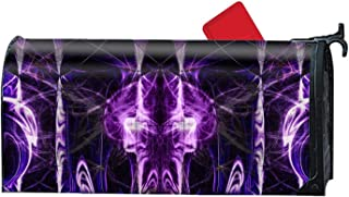 iacafaf Cool Purple Skulls Seasonal Mailbox Covers for Spring Summer Fall Autumn and Winter