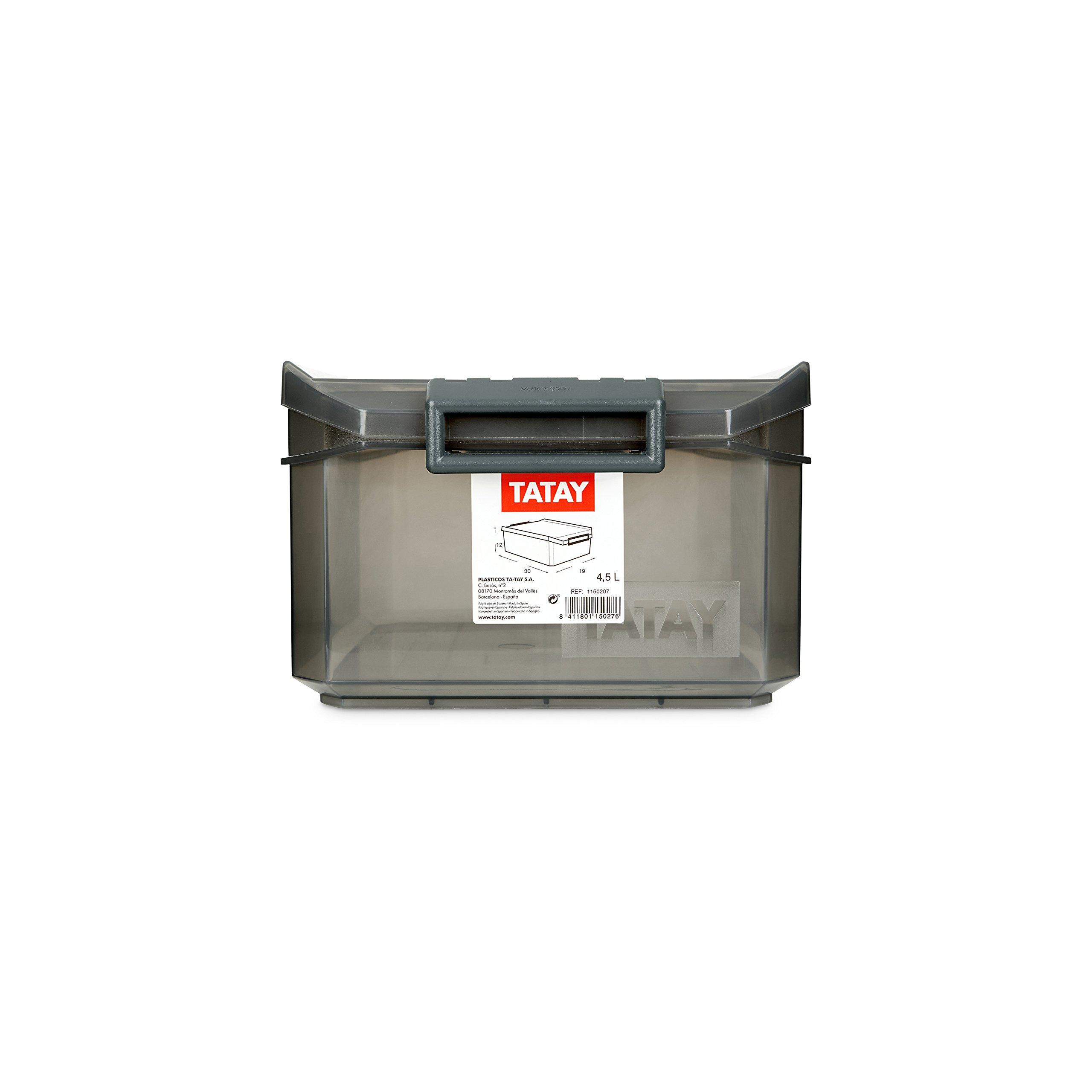 Tatay 1150214 Caja de Almacenamiento Multiusos con Tapa 4.5l de ...