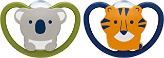 NUK Space Orthodontic Pacifier, 0-6 Months, 2-Pack