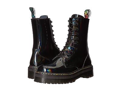 Dr. Martens Jadon Hi Rainbow Patent (Black) Boots