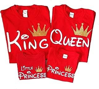 Disney Trip Shirts - King and Queen Tshirt - Disney Princess Outfit - Family Matching Christmas Shirts (Price per Tshirt)