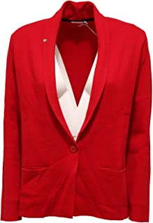 670cc417836c57 SUN 68 1368K Giacca Donna Giacche Red Wool/Cotton Jacket Woman