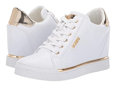 GUESS Flowurs (White Synthetic) Women