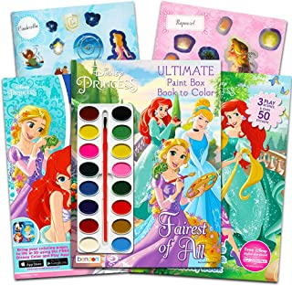Disney Princess Coloring Book Super Set -- 3 Disney Princess Activity Books with Stickers and Painting Supplies