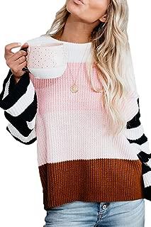 CHYRII Womens Color Block Raglan Long Sleeve Lightweight Tunic Sweatshirt Tops