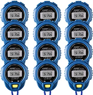 12 Pack Multi-Function Electronic Digital Sport Stopwatch Timer, Large Display with Date Time and Alarm Function,Suitable for Sports Coaches Fitness Coaches and Referees