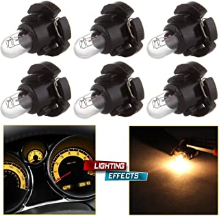 cciyu 6 Pack Warm White T4/T4.2 Neo Wedge Halogen A/C Climate Control Bulb Replacement fit for A/C Climate Control Light (black)