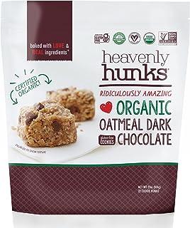 Heavenly Hunks Organic Oatmeal Cookies - On-The-Go Breakfast and Snack Bars - Best for Kids and Adults (Oatmeal Dark Choco...