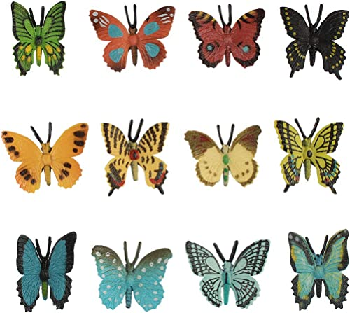 popular Larcele sale 12 Kinds Simulated lowest Mini Plastic Animal Model Butterfly Toy Figures for Kids FZM-01 (Butterfly) outlet online sale