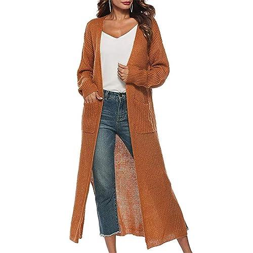 e723e73e0aa1 Women Open Front Drape Hem Lightweight Cardigan Knit Thin Sweaters Cover Up  Tunic Wrap Tops