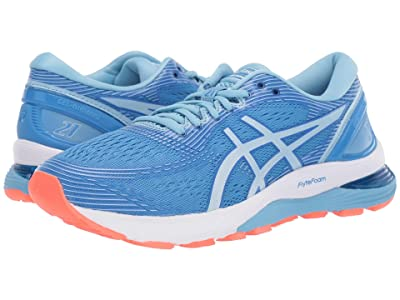 ASICS GEL-Nimbus(r) 21 (Blue Coast/Skylight) Women