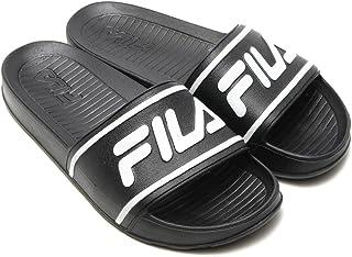 56812d4e47c1 Fila Sleek Slide Lt Mens Black Slip On Athletic Sandals