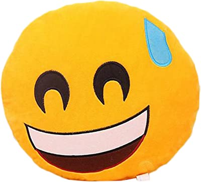 Amazon.com: Li & Hi 32 cm Con Forma De Emoticono Amarillo ...