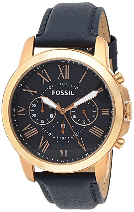 Fossil Analog Blue Dial Men's Watch   FS4835 Wrist Watches