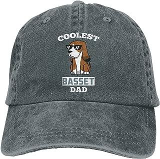 Coolest Basset Hound Dad Unisex Personalize Cowboy Hat Hip Hop Cap Adjustable Baseball Cap