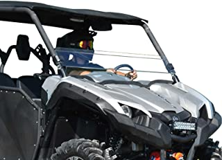 SuperATV Heavy Duty Clear Scratch Resistant Half Windshield for Yamaha Viking (2014+) - Hard Coated for Long Life and Extreme Durability - Installs in 5 Minutes!