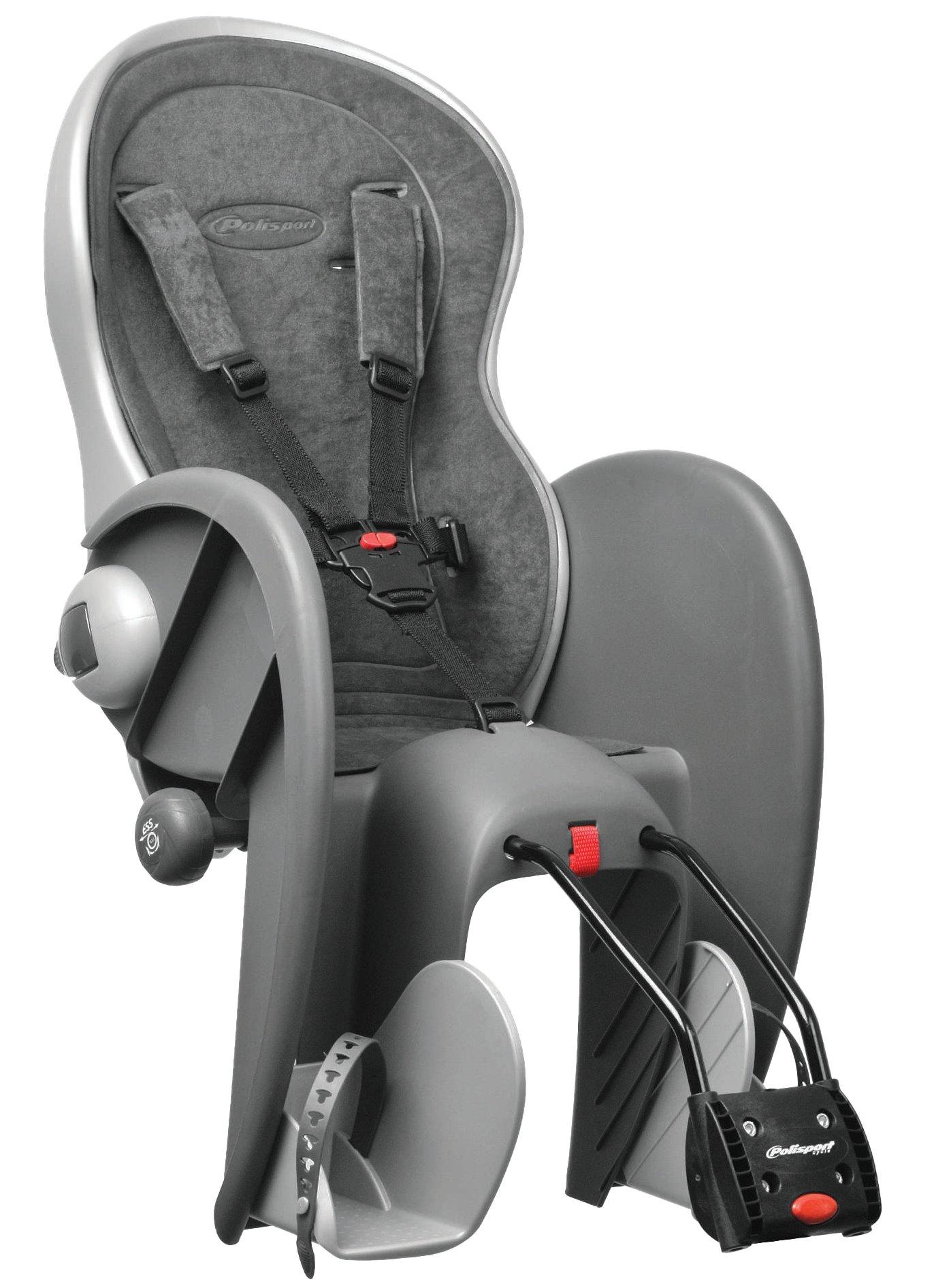 Polisport 67826 - Asiento de bicicleta para bebé (gris): Amazon.es ...