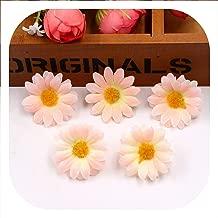 Memoirs- 10Pcs/Lot 4Cm Artificial Flowers Silk Sunflower Daisy Flower Head for Wedding Home Party Decoration DIY Wreath Fake Flowers,Pink