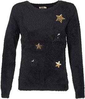 Molly Bracken Women's Faux Fur Embellished Long Sleeve Sweater