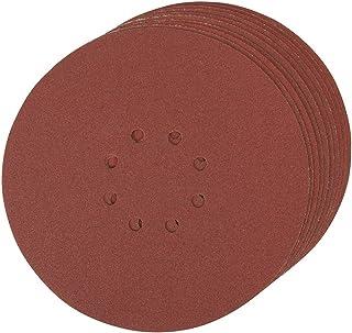 Silverline 273151 - Discos de lija perforados autoadherentes 225 mm, 10 pzas (Grano 120)