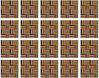 YOLIYANA Ethnic Waterproof Ceramic Tile Stickers,Traditional African Oriental Motifs with Tribal Colors Nigerian Culture Elements for Kitchen Living Room,One Size