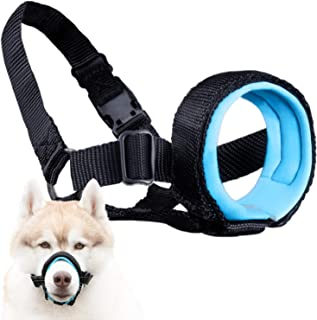 Gentle Muzzle Guard Dogs - Prevents Biting Unwanted Chewing Safely Secure Comfort Fit - Soft Neoprene Padding – No More Ch...