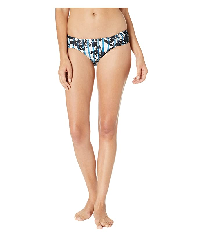 Lucky Brand On the Grid Reversible Side Shirred Bottom (Ink Blue) Women
