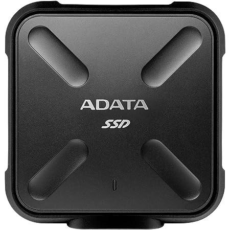 ADATA 256GB SD700 SSD, Black Durable External, ASD700-256GU3-CBK (Durable External Military-grade Shockproof, IP68 Dustproof/Waterproof), nero