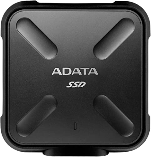 ADATA SD700 256GB Military Grade Shockproof Waterproof Portable USB 3.1 External SSD Solid State Drive (Black)